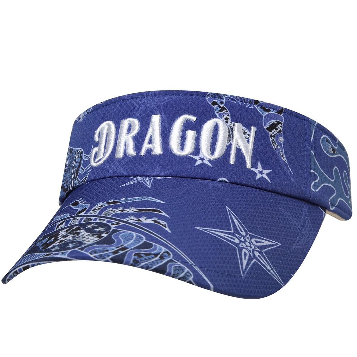 ダンスウィズドラゴン Dance With Dragon TOURISMプリント サンバイザー フリー ネイビー 069