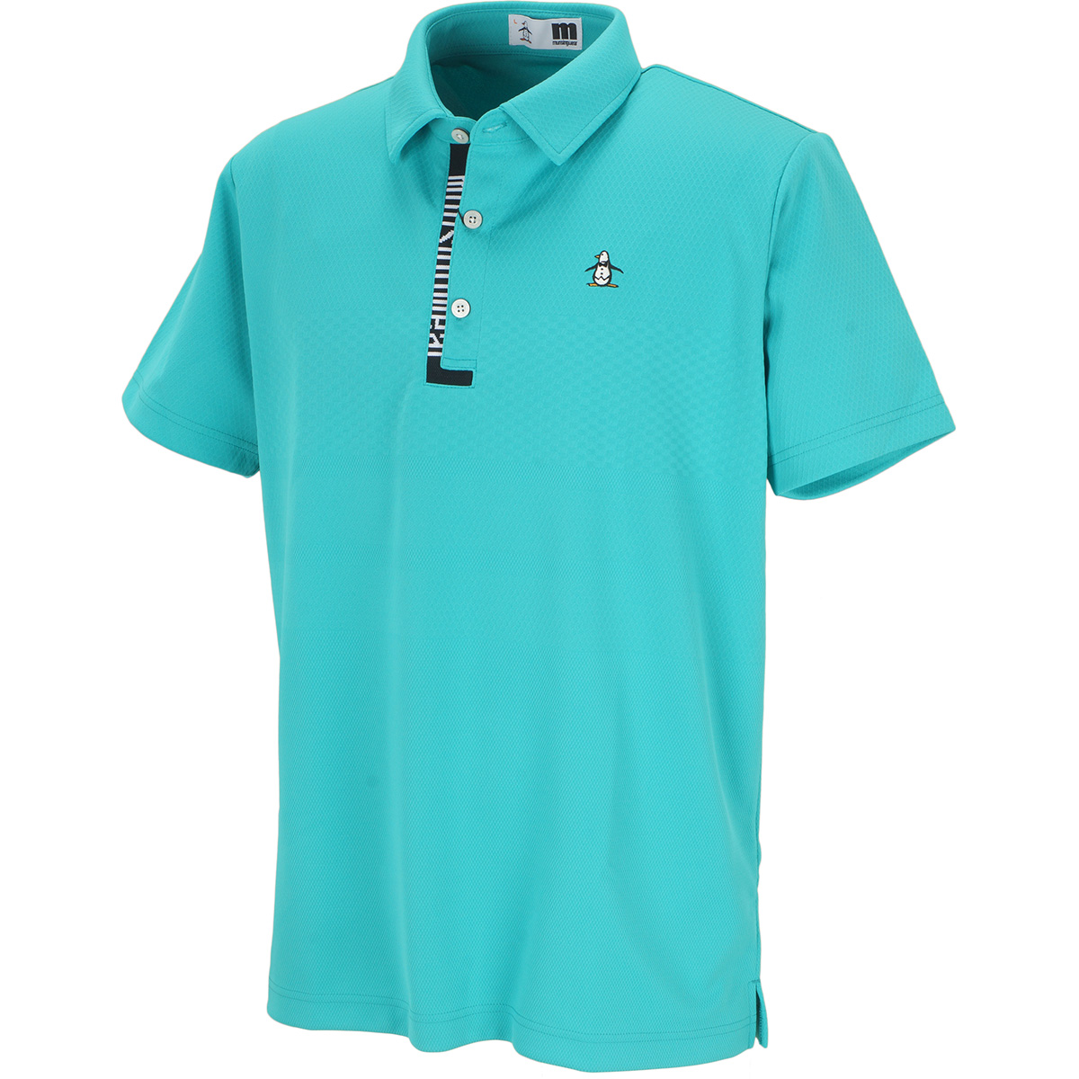 ENVOY SUNSCREENパネルジャカード半袖ポロシャツ