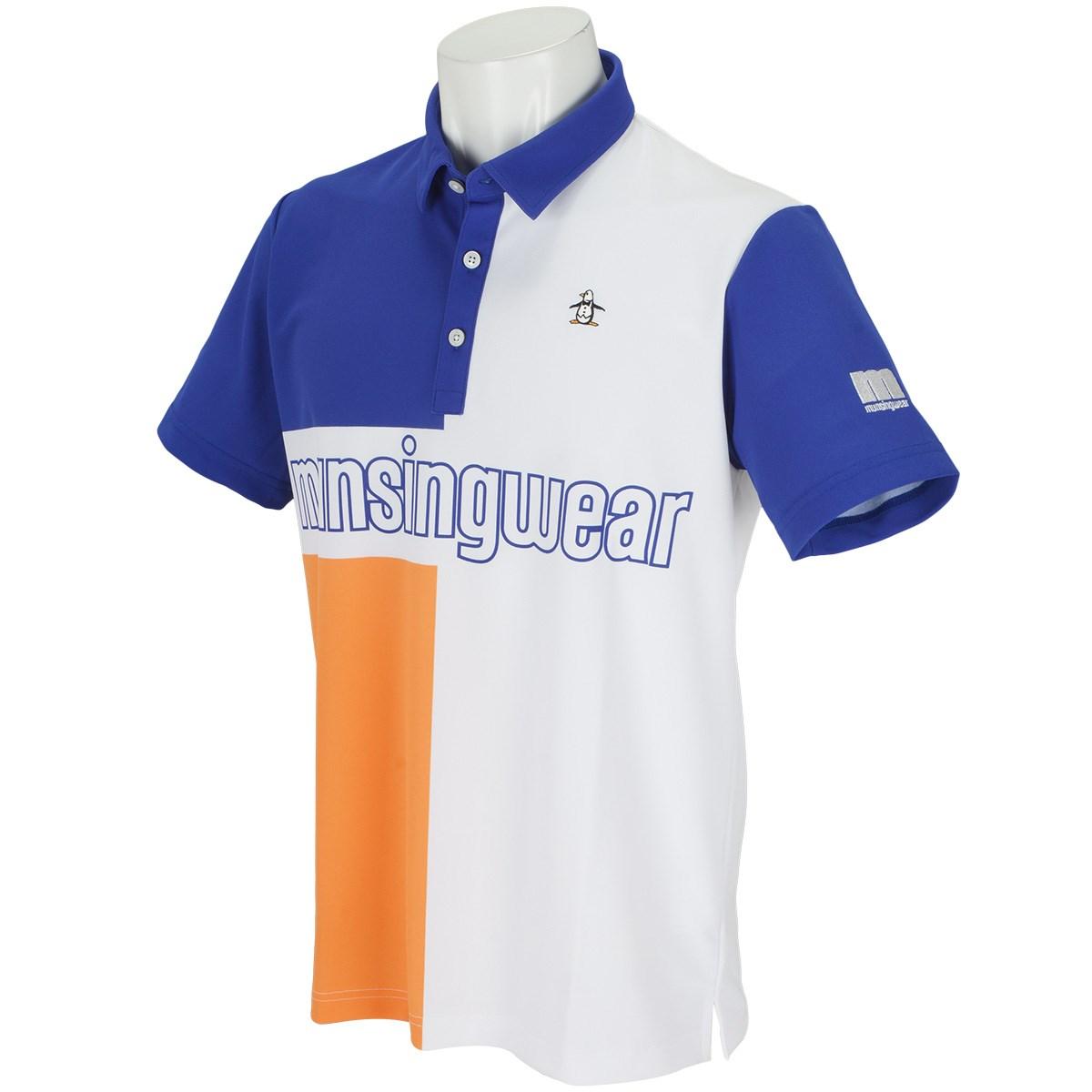 マンシングウェア ENVOY COOLISTパネルプリント半袖ポロシャツ