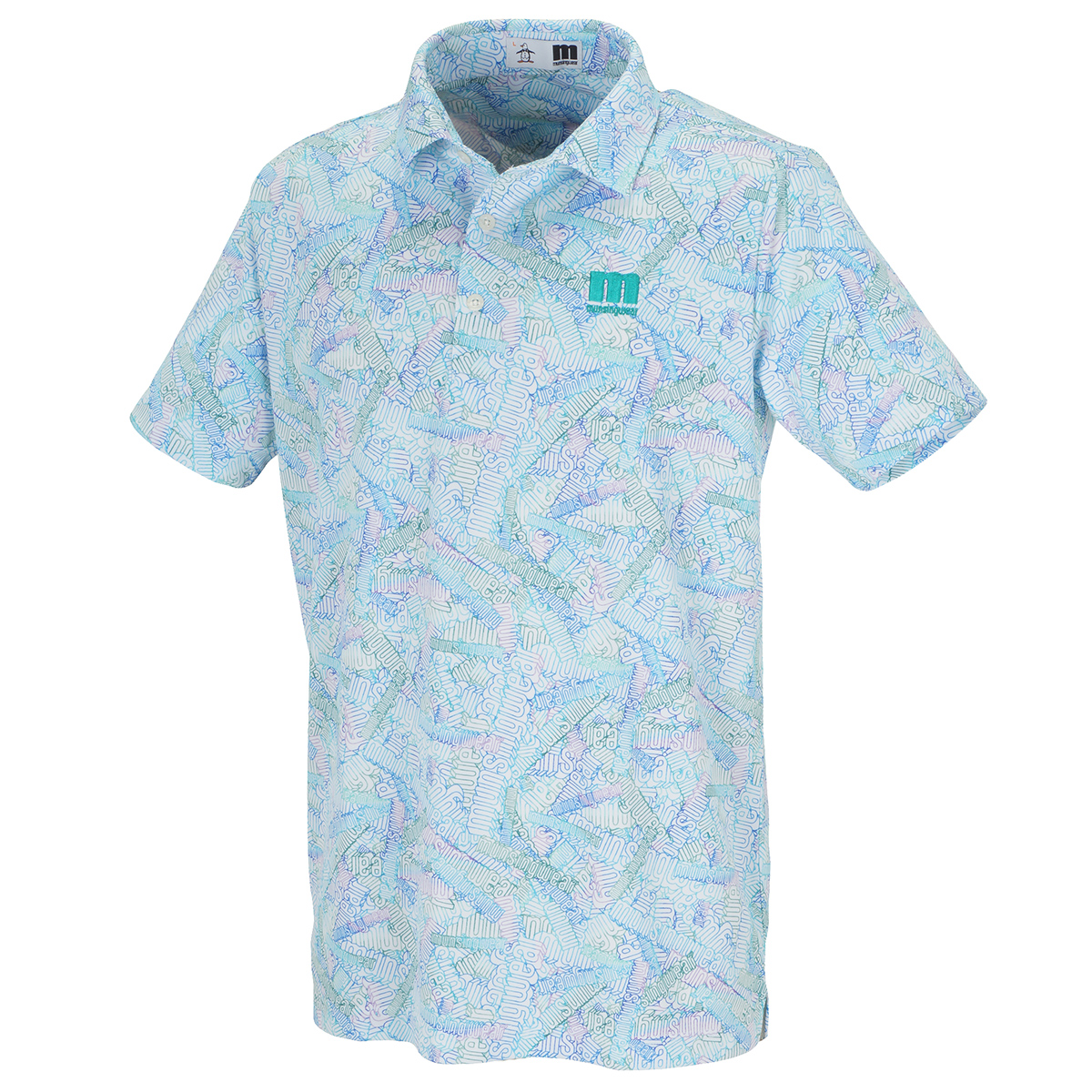 ENVOY COOLIST3Dロゴプリント半袖ポロシャツ