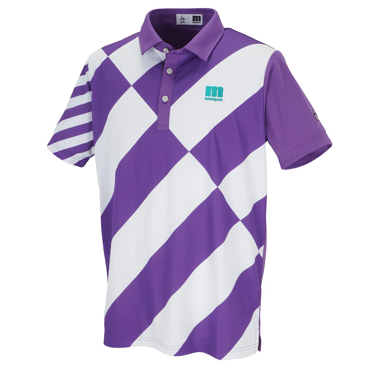 ENVOY COOLISTレジメンタルプリント半袖ポロシャツ