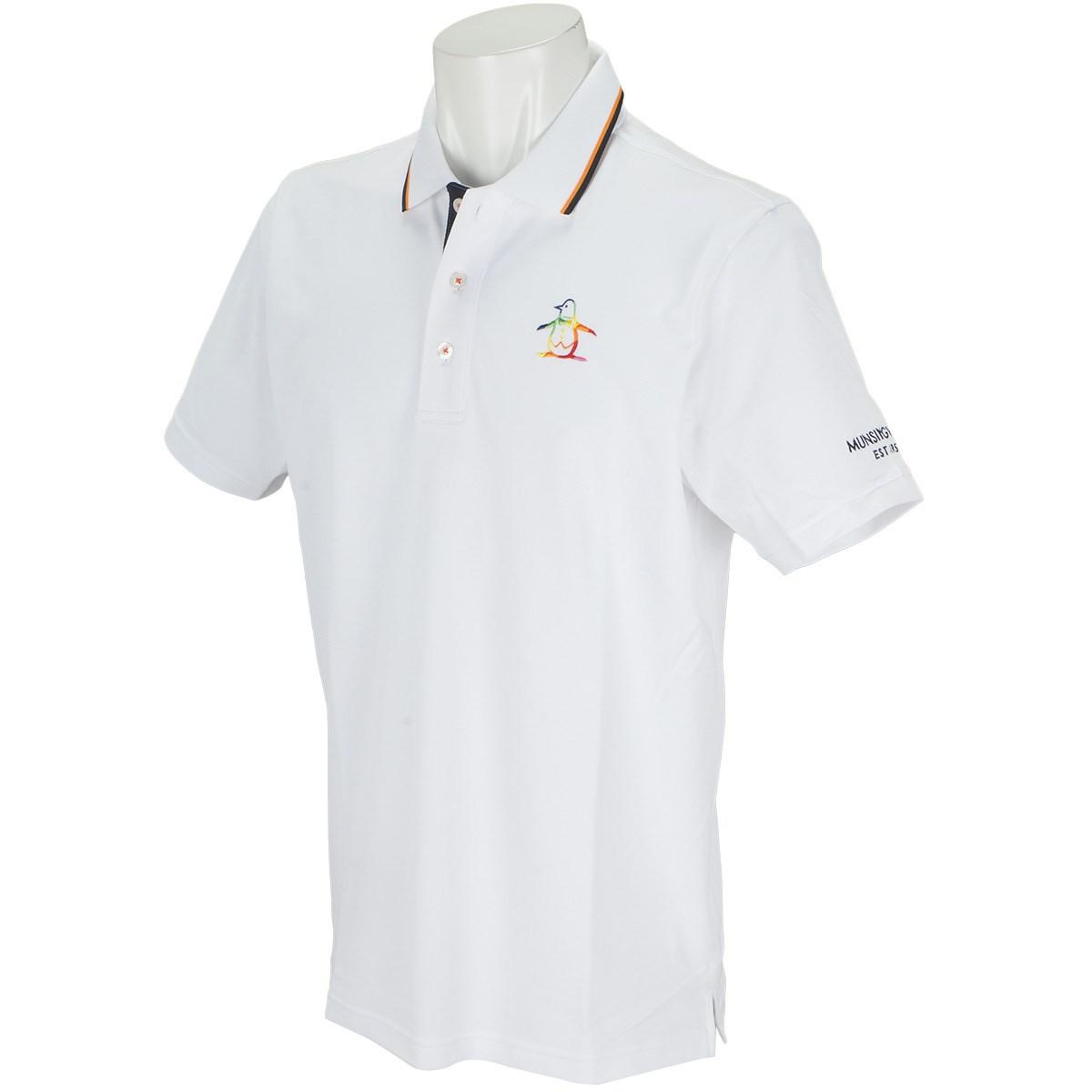 マンシングウェア Munsingwear SUNSCREENペルヴィアンピマ半袖ポロシャツ LL ホワイト 00