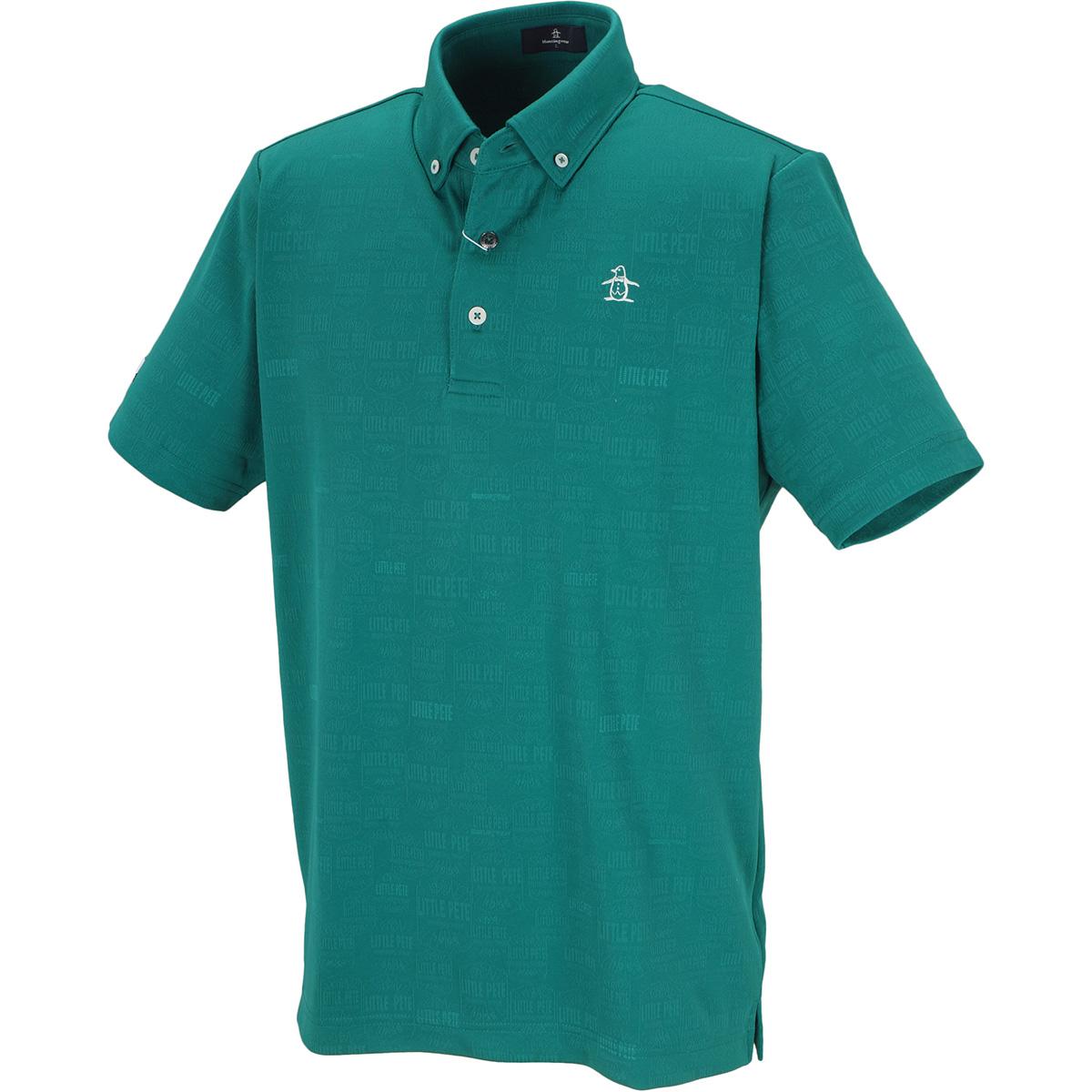 ラベルモチーフジャカード半袖ポロシャツ