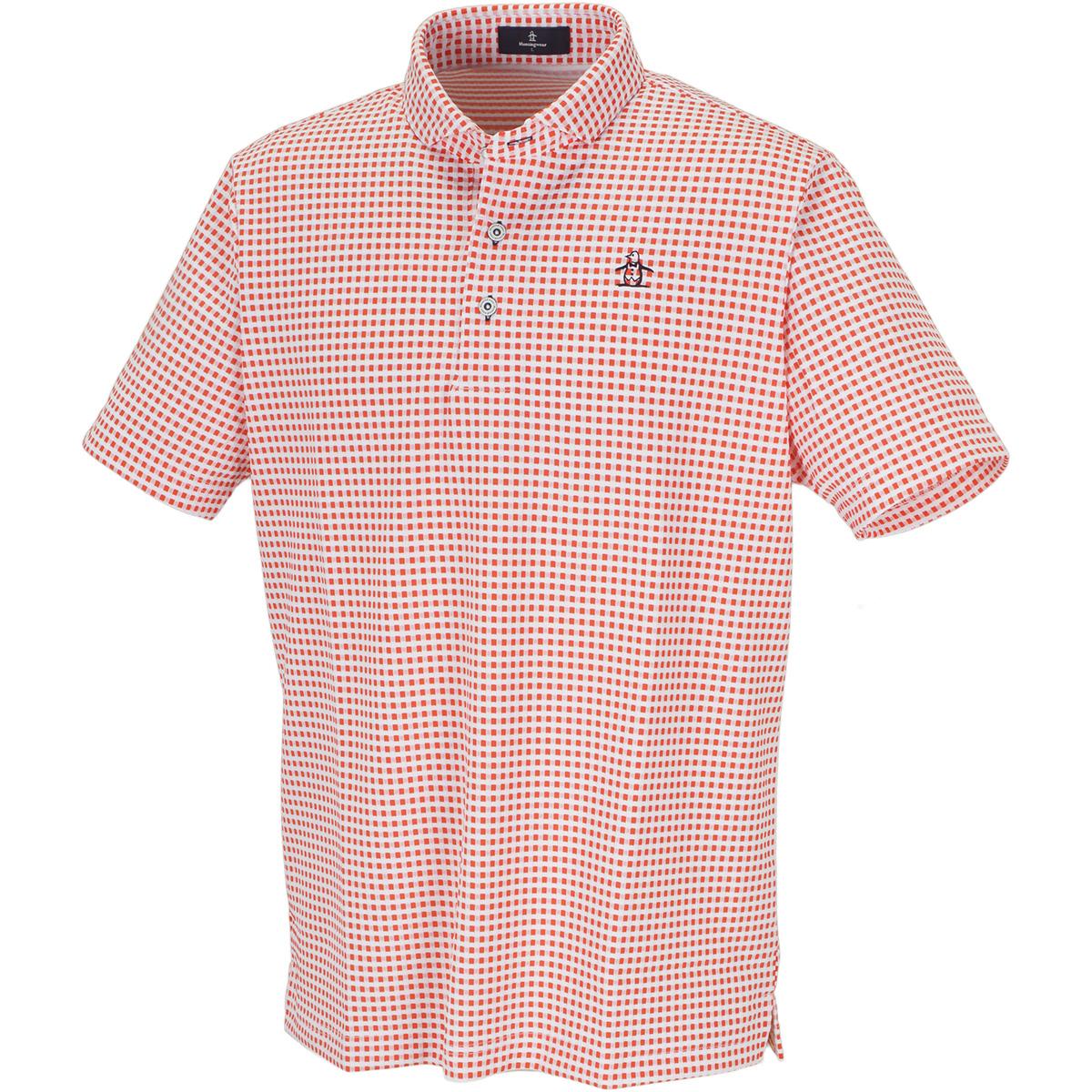 SUNSCREENギンガムジャカード半袖ポロシャツ