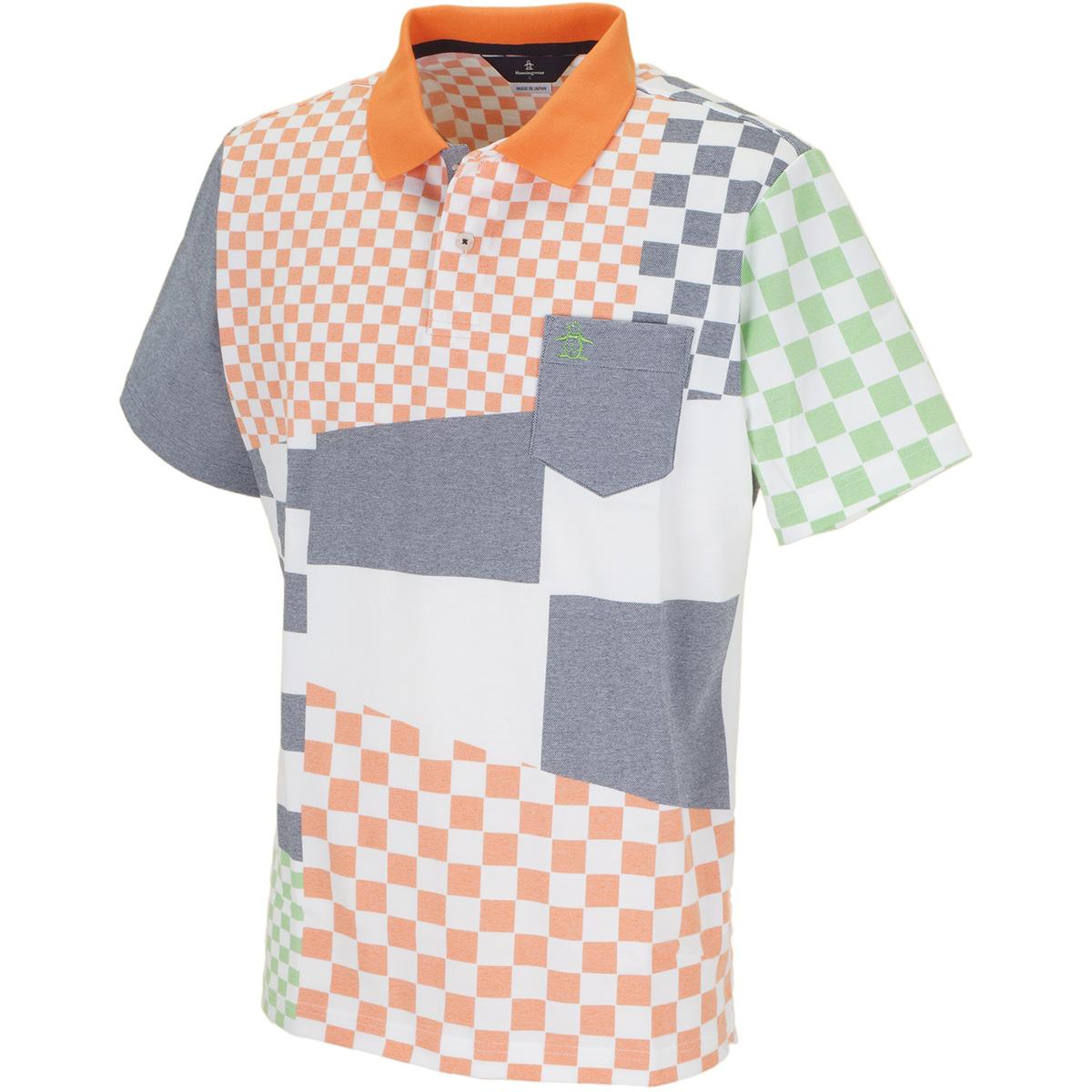 クレイジープリント半袖ポロシャツ