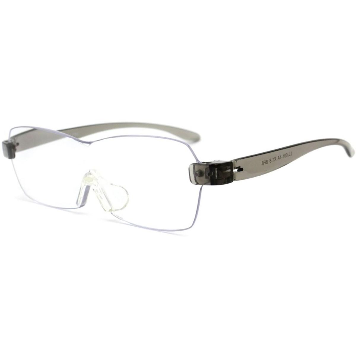 レサ RESA メガネ型拡大鏡 クリアライトグレー(1.6倍)