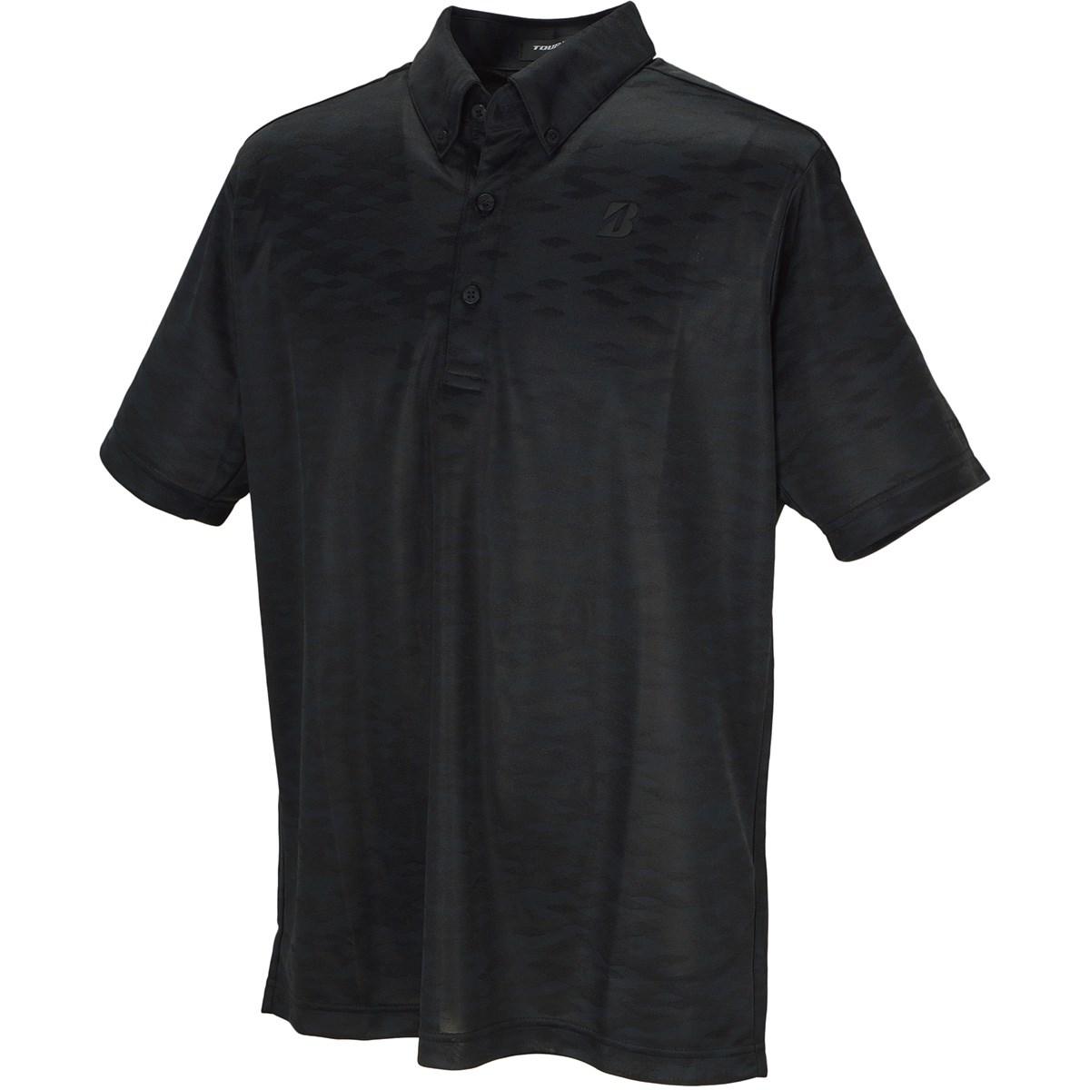 ブリヂストン TOUR B 半袖ボタンダウンポロシャツ M ブラック