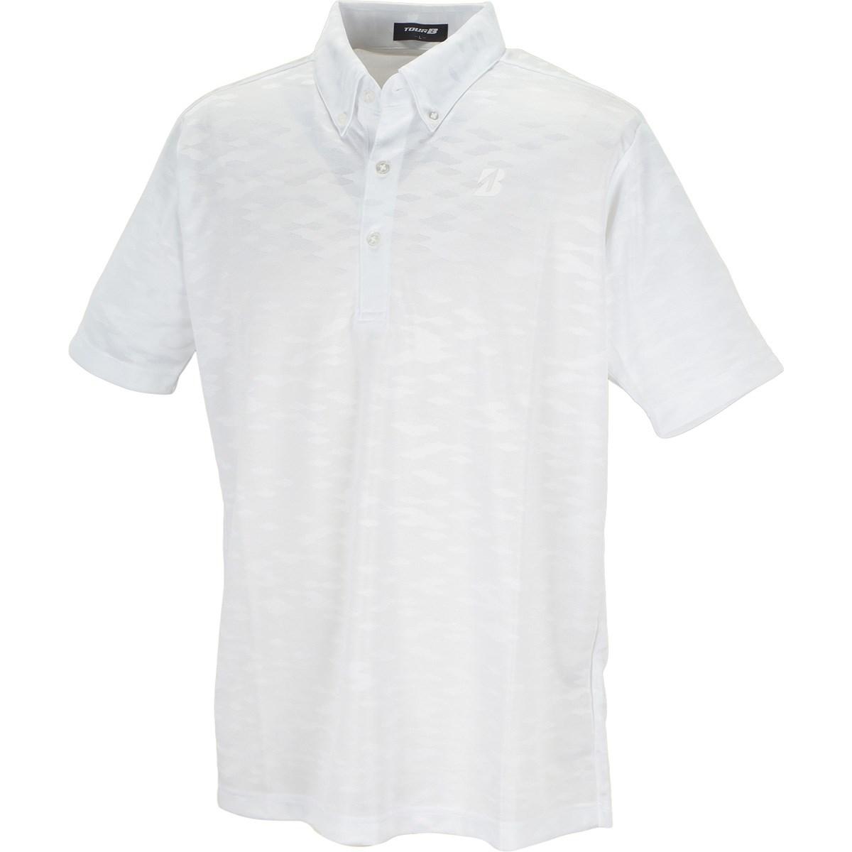 ブリヂストン TOUR B 半袖ボタンダウンポロシャツ M ホワイト