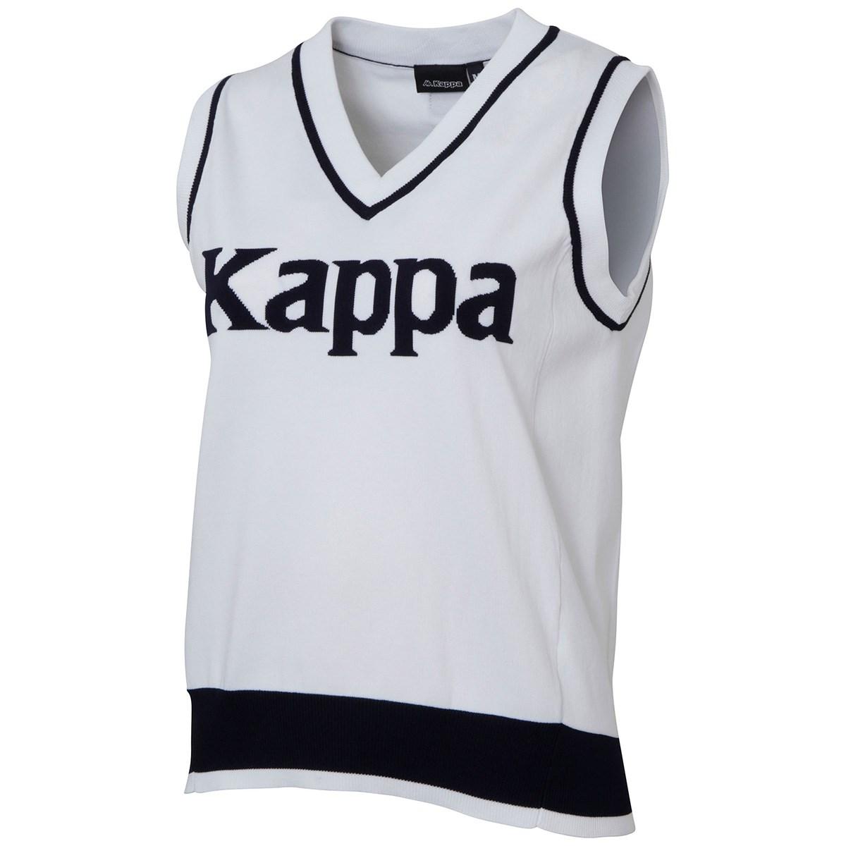 カッパ Kappa Kappa GOLF 胸ロゴニットベスト S ホワイト レディス