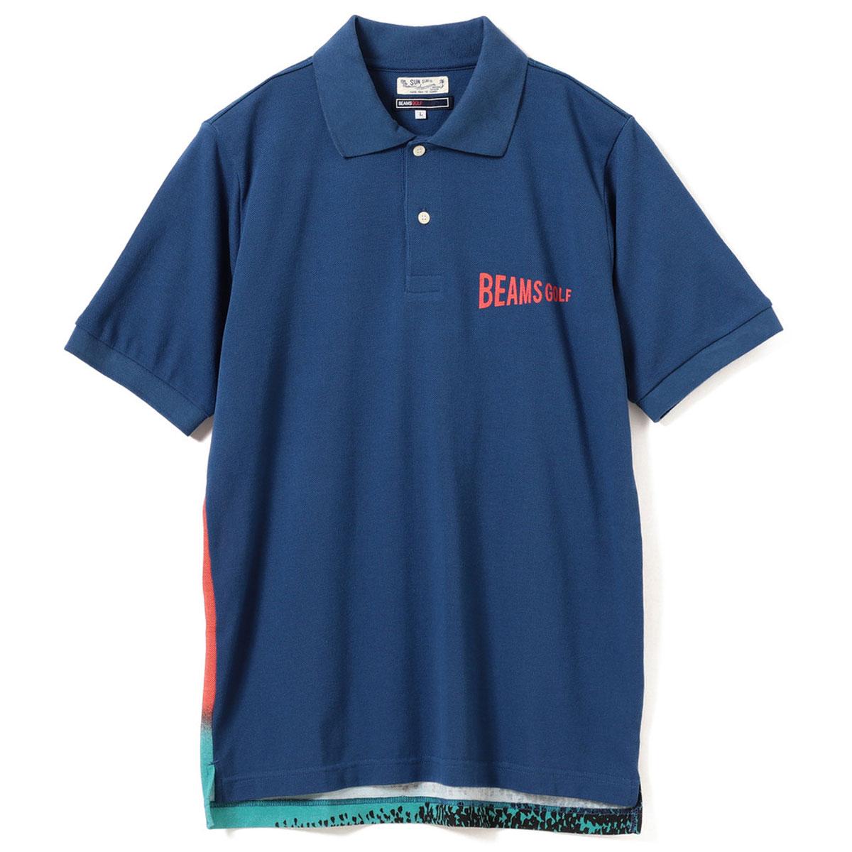 SUN SURF×BEAMS GOLF / 別注 バックプリント ポロシャツ HOKUSAI