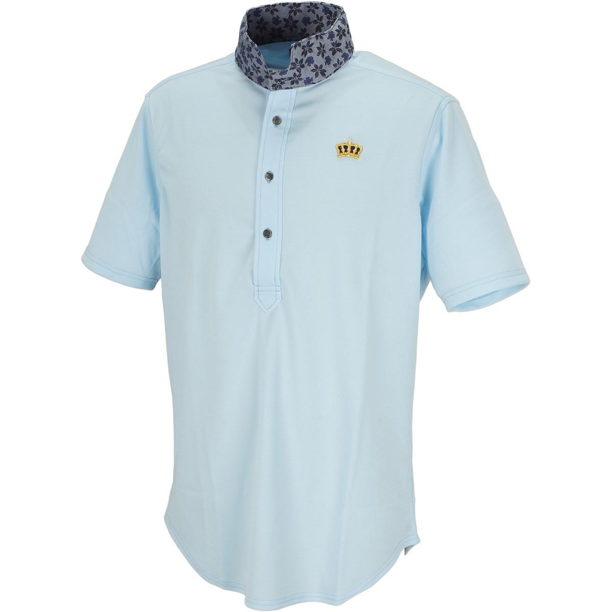 ブラッドシフト 小花柄ウィングカラー半袖ポロシャツ