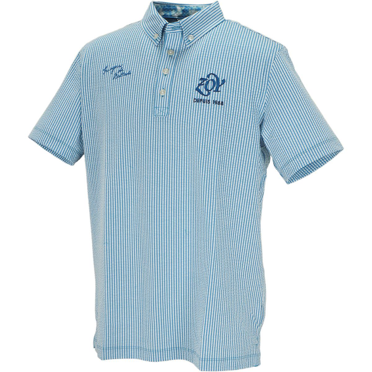 シルキーサッカージャージ 半袖ポロシャツ