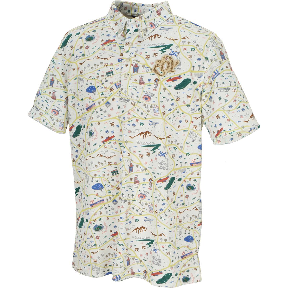 マッププリント 半袖ポロシャツ