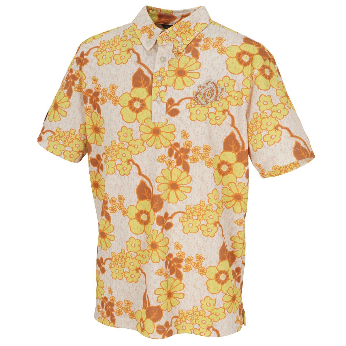 JAMSフラワープリント 半袖ポロシャツ