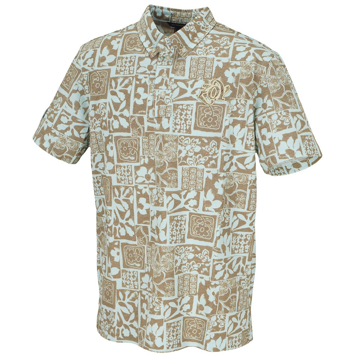 JAMSパッチワークフラワープリント 半袖ポロシャツ
