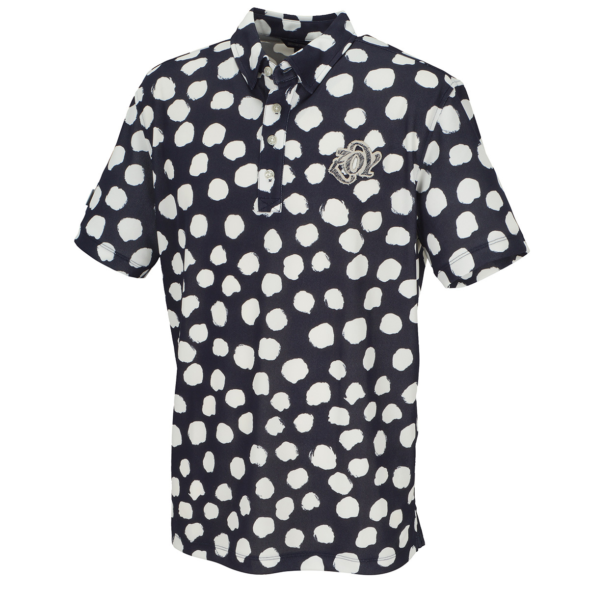 JAMSドットプリント 半袖ポロシャツ