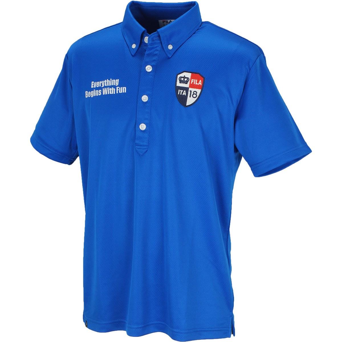 フィラ FILA GDO限定 半袖ポロシャツ M ブルー