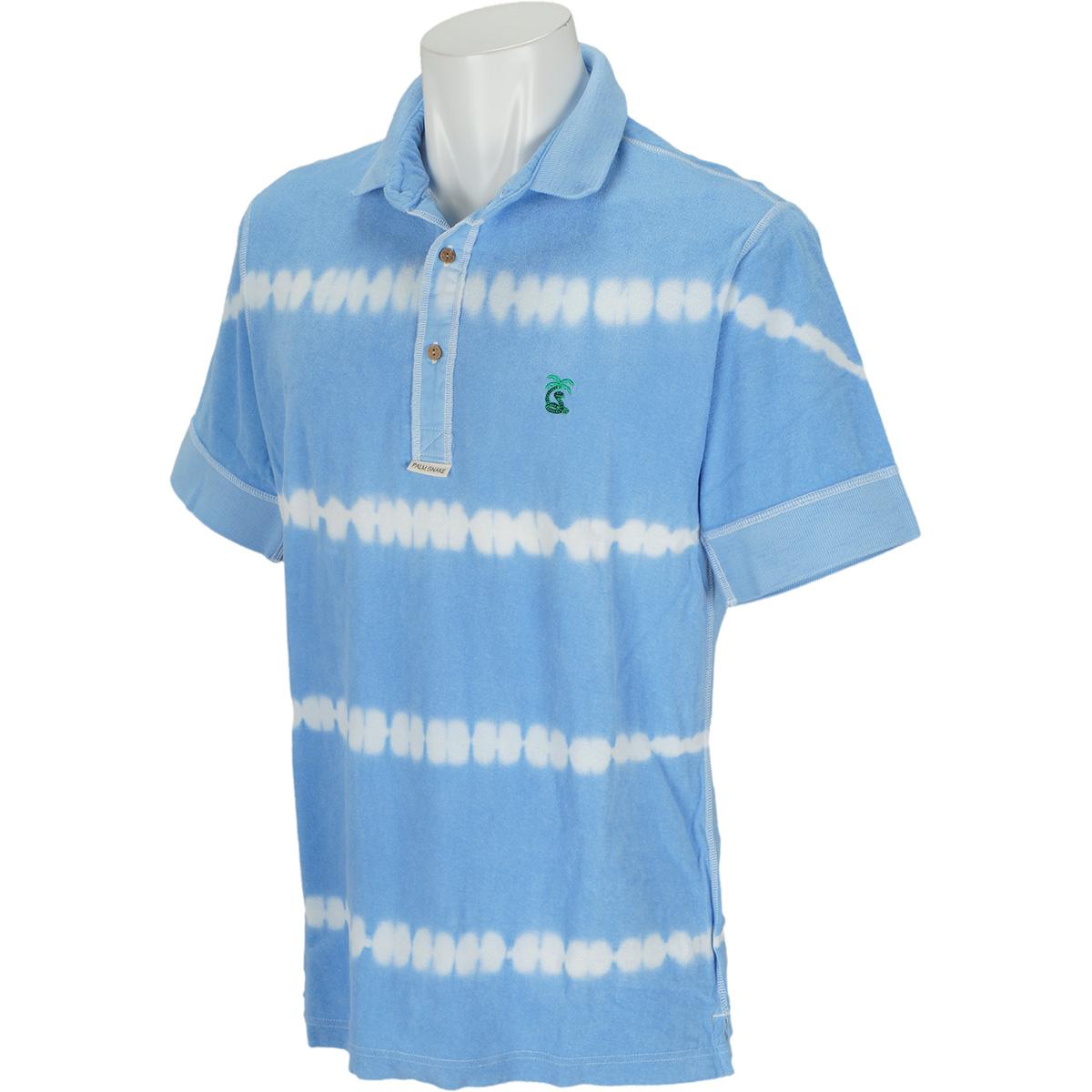 有松絞 ミニパイルヘンリー半袖ポロシャツ
