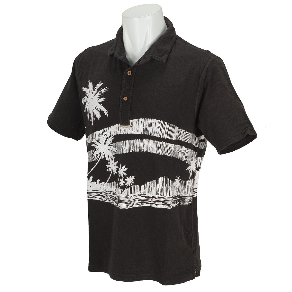 PS×OPミニパイルヘンリープリント 半袖ポロシャツ