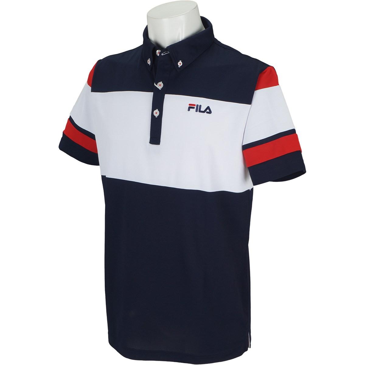 フィラ FILA 半袖ボタンダウンポロシャツ M ネイビー