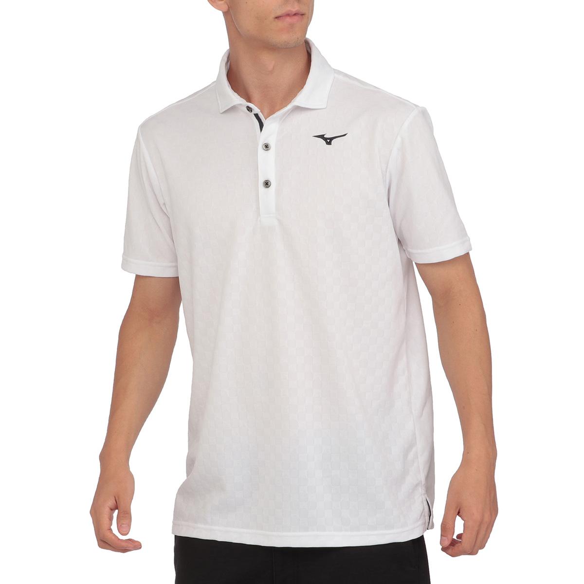 格子柄半袖ポロシャツ