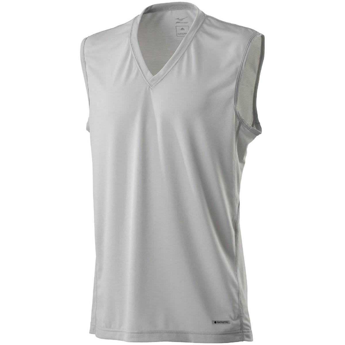 ミズノ(MIZUNO) ハイドロ銀チタン Vネックノースリーブシャツ