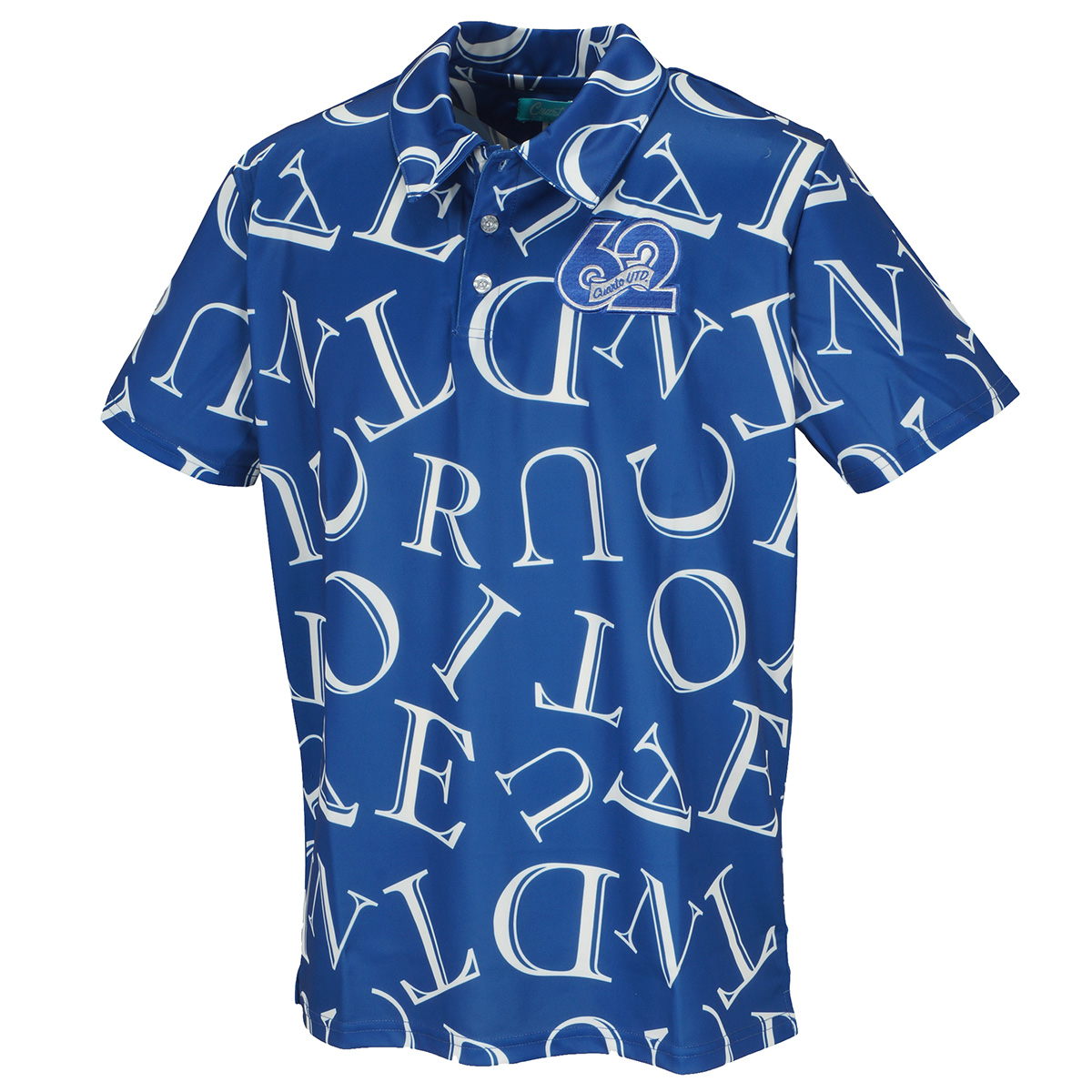 総柄ロゴモノトーン半袖ポロシャツ