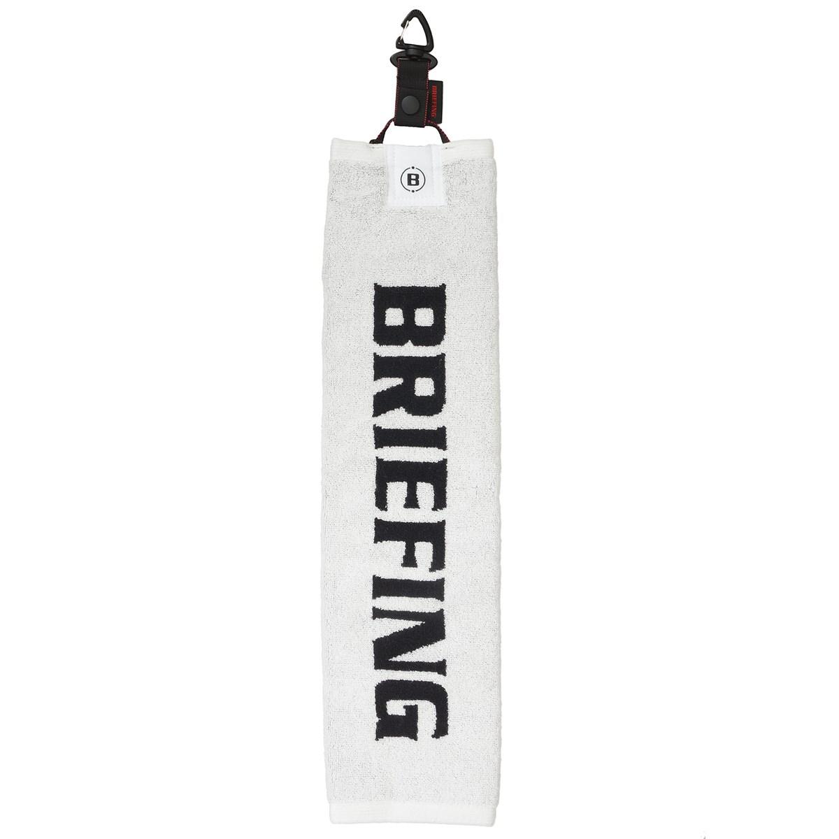 ブリーフィング BRIEFING ラウンドタオル ホワイト