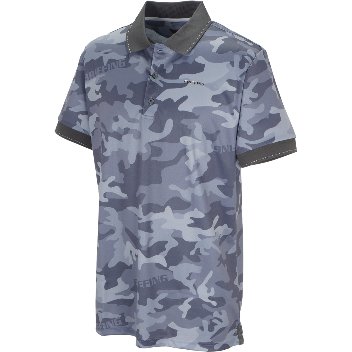 カモプリント 半袖ポロシャツ