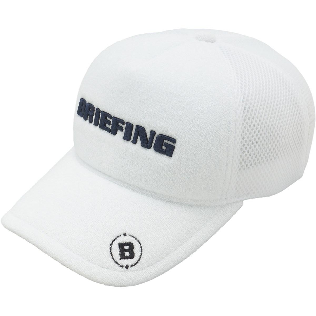 ブリーフィング BRIEFING パイルメッシュキャップ フリー ホワイト
