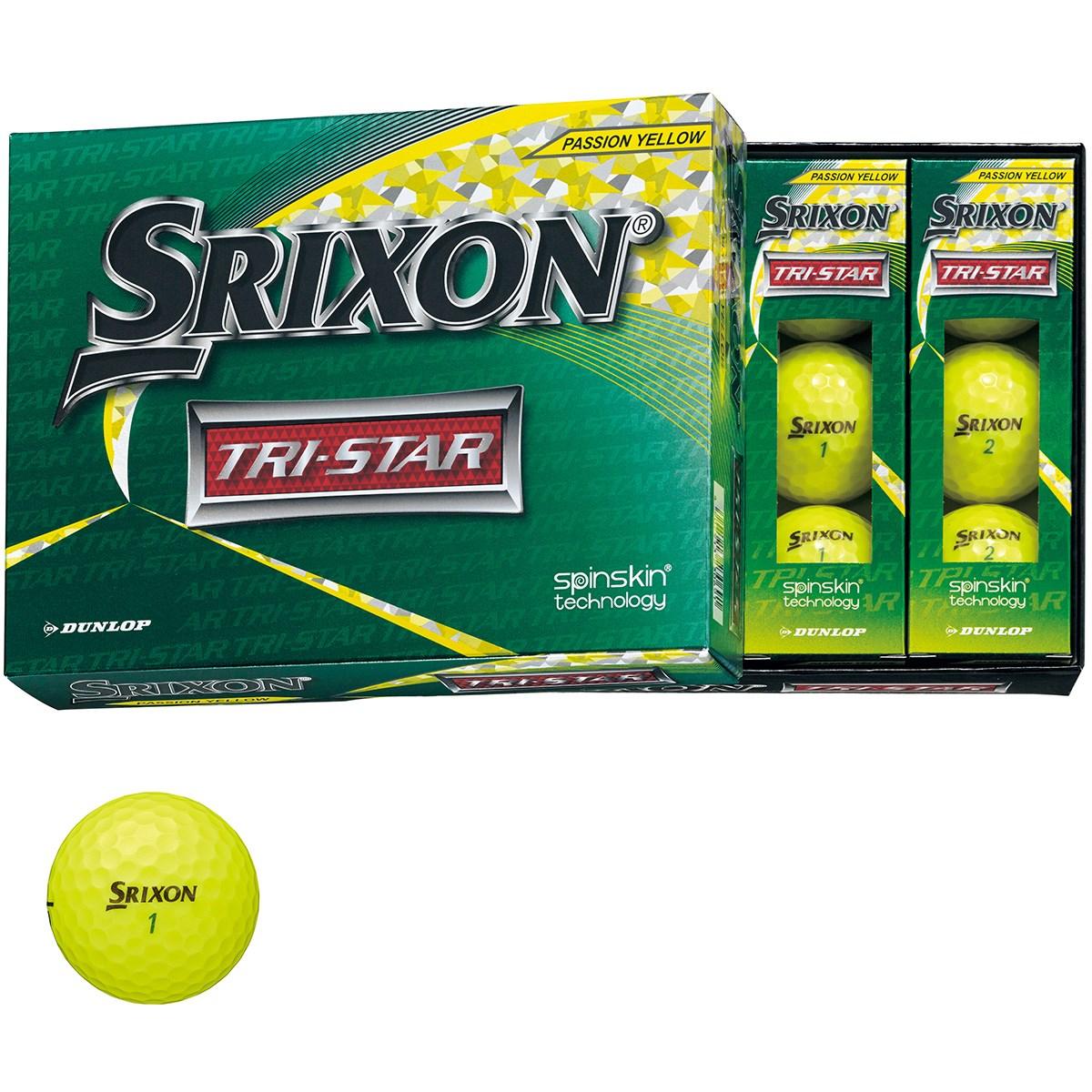 ダンロップ SRIXON スリクソン TRI-STAR 3 ボール 1ダース(12個入り) プレミアムパッションイエロー