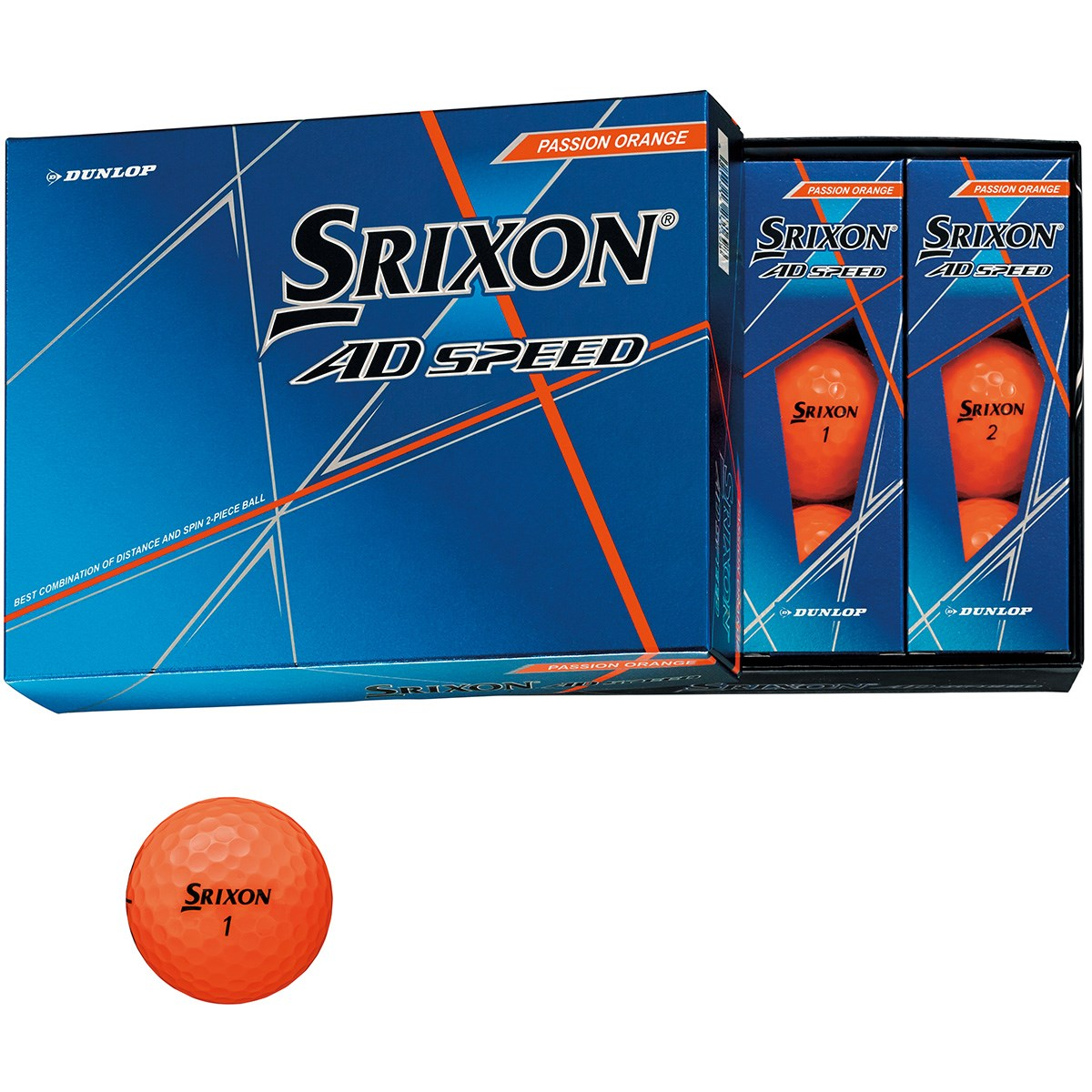 ダンロップ SRIXON スリクソン AD SPEED ボール 1ダース(12個入り) パッションオレンジ