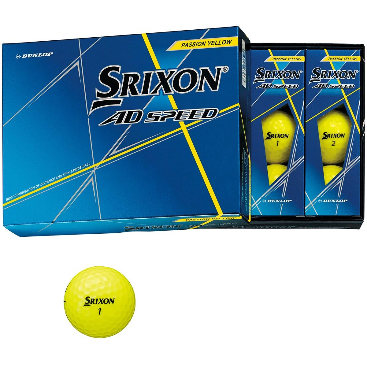 ダンロップ SRIXON スリクソン AD SPEED ボール 1ダース(12個入り) パッションイエロー