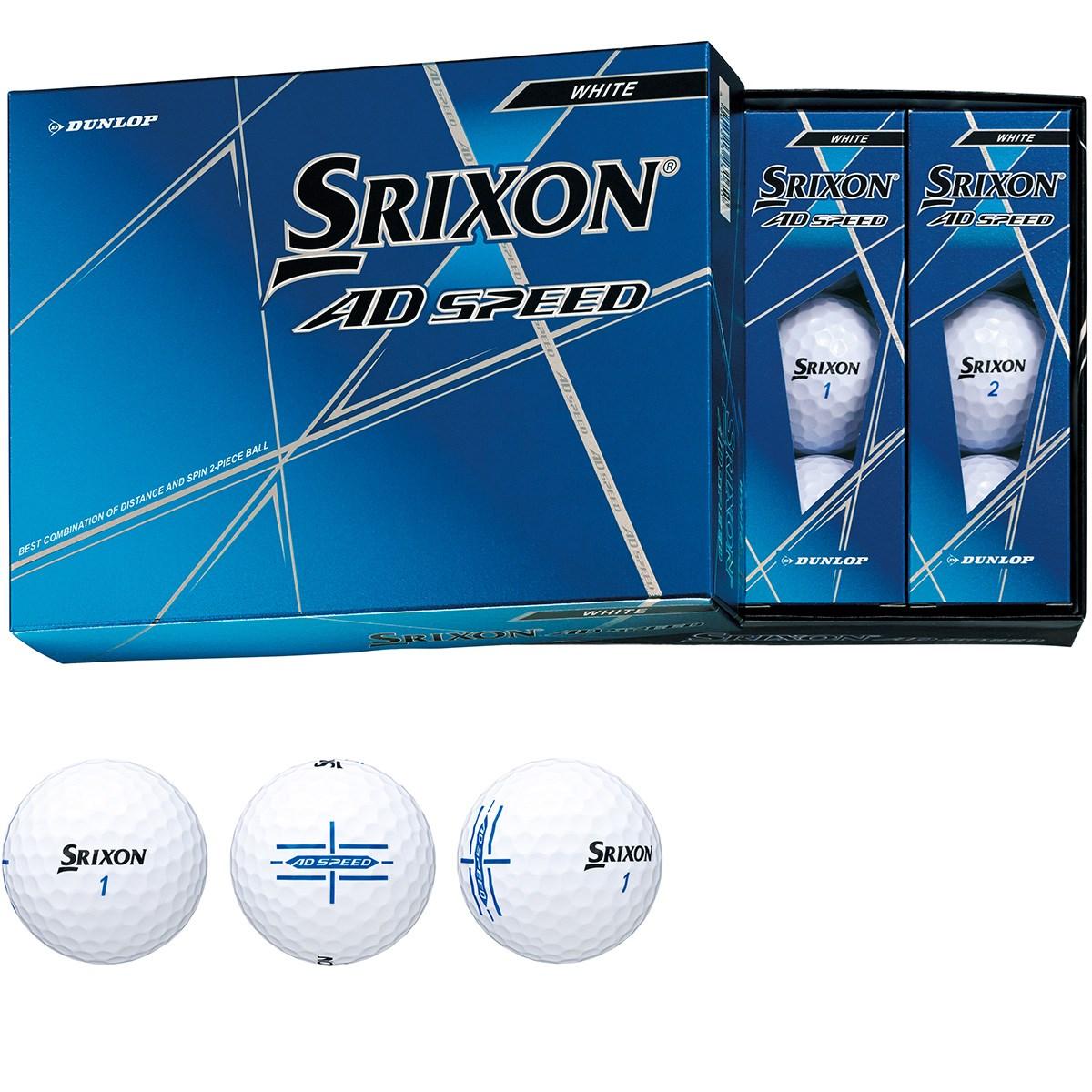 ダンロップ SRIXON スリクソン AD SPEED ボール 1ダース(12個入り) ホワイト