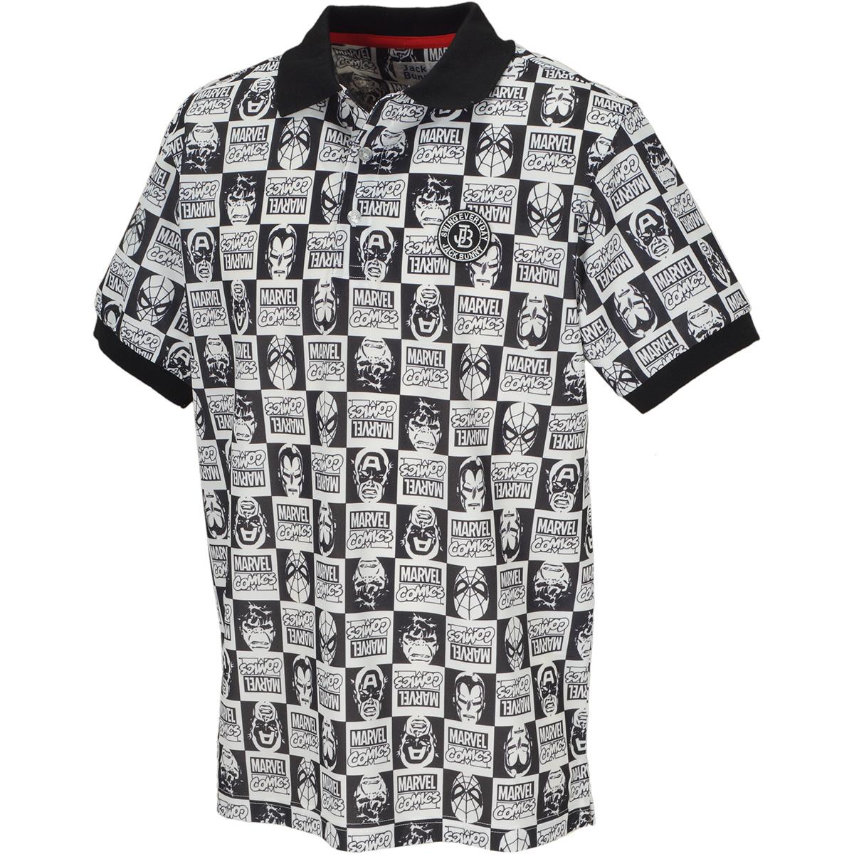 MARVEL バーズアイ鹿の子半袖ポロシャツ