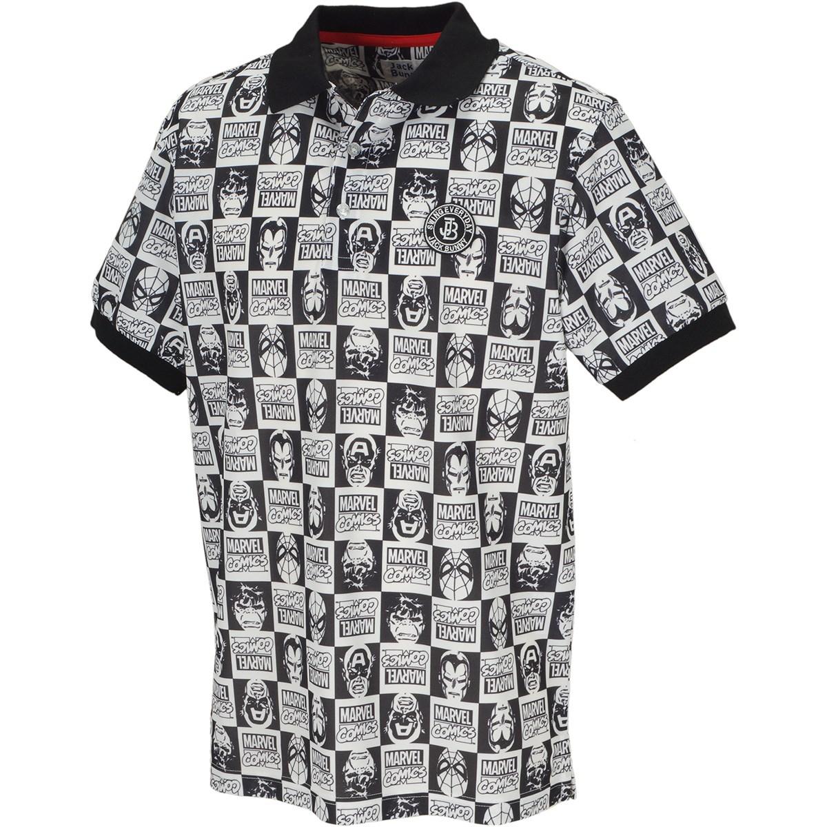 ジャックバニー バイ パーリーゲイツ MARVEL バーズアイ鹿の子半袖ポロシャツ
