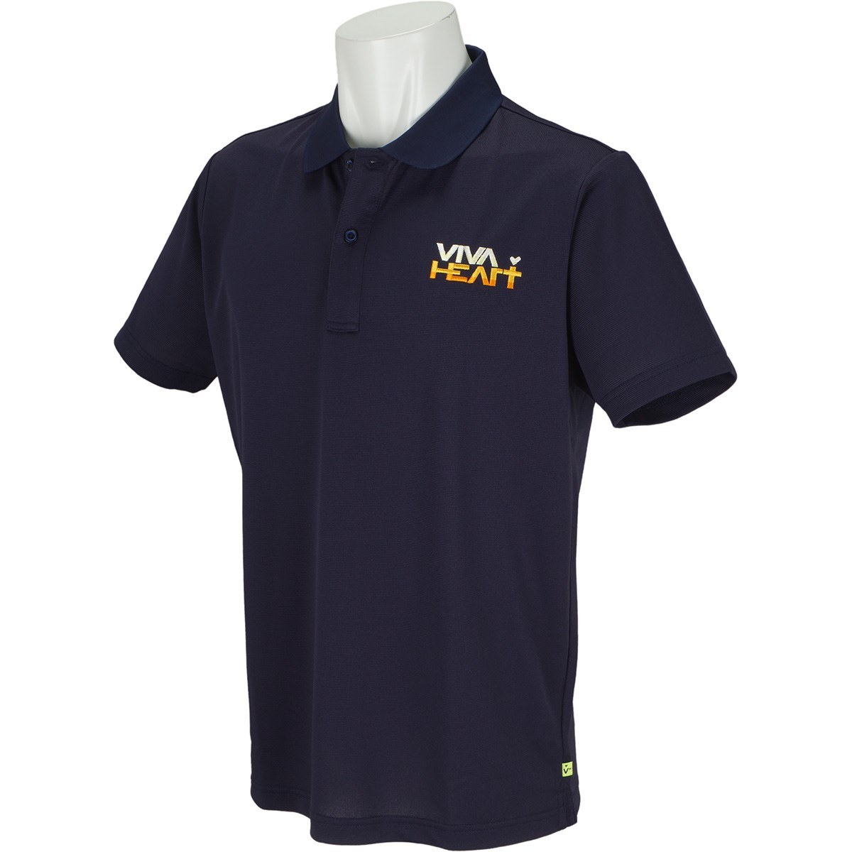 ビバハート シャドーボーダー 半袖ポロシャツ