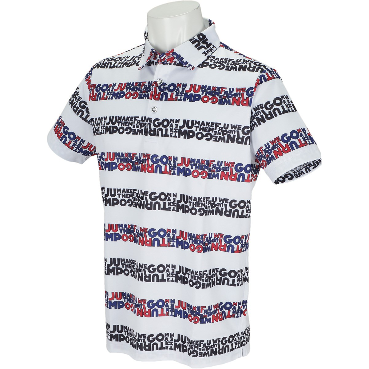 ビバハート VIVA HEART Lylicボーダープリント BackMesh 半袖ポロシャツ 48(M) オフホワイト 005