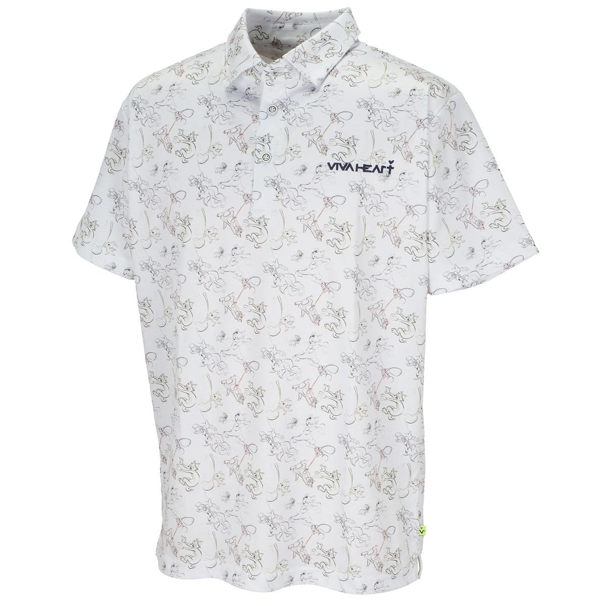 ビバハート T&Jプリント 半袖ポロシャツ
