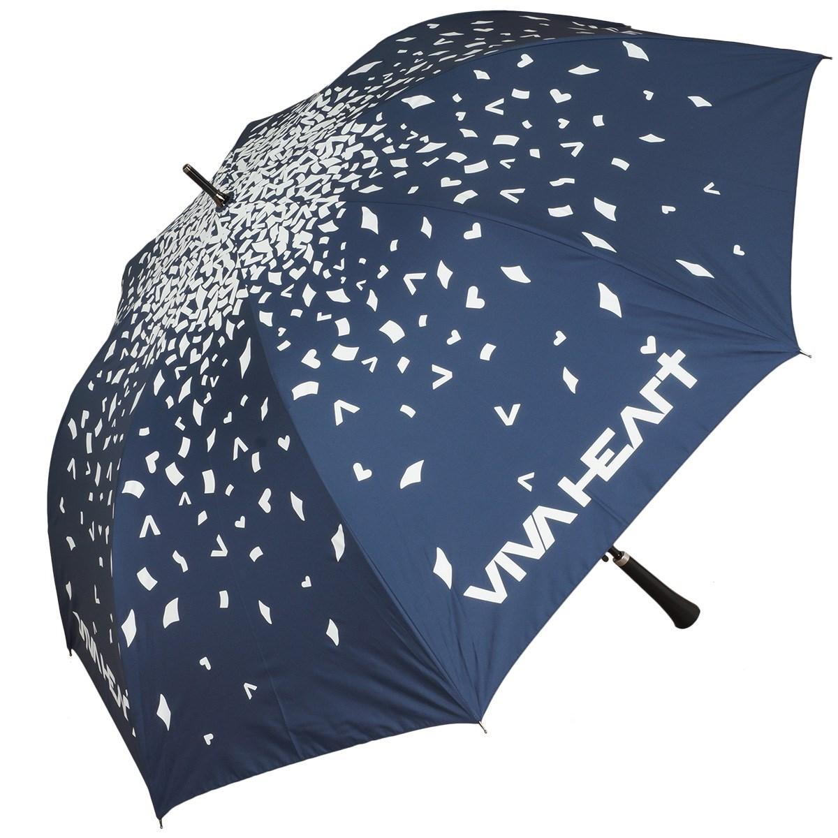 ビバハート VIVA HEART KAMI-FUBUKIプリント 晴雨兼用傘 ネイビー 098