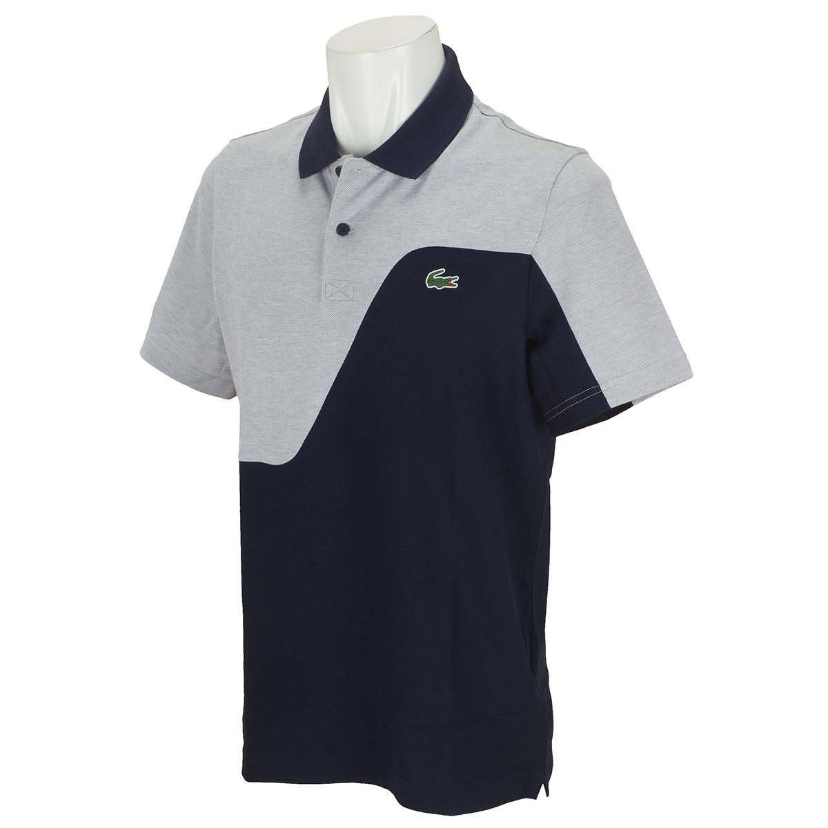 ツートーンピケ ゴルフ半袖ポロシャツ