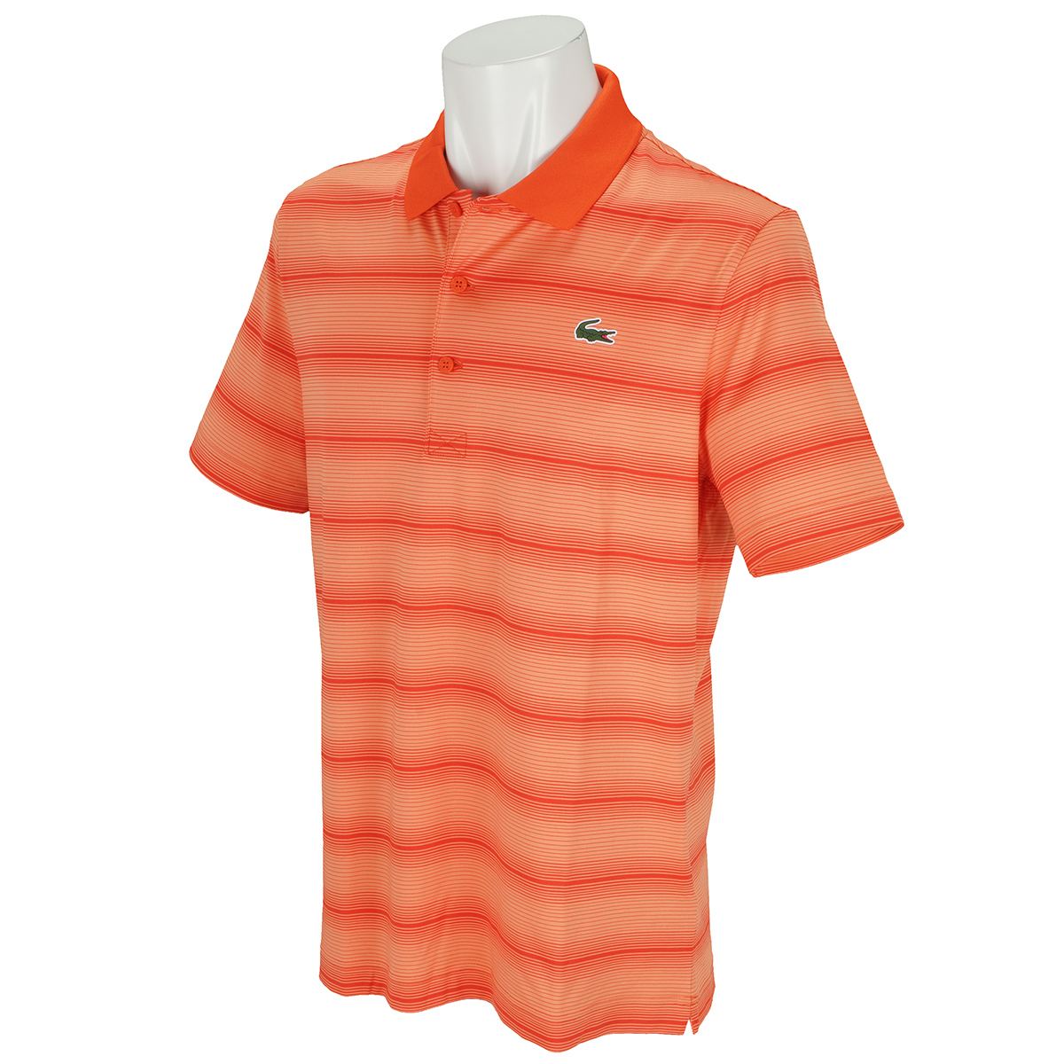 ウルトラドライ仕様 ストライプゴルフ半袖ポロシャツ