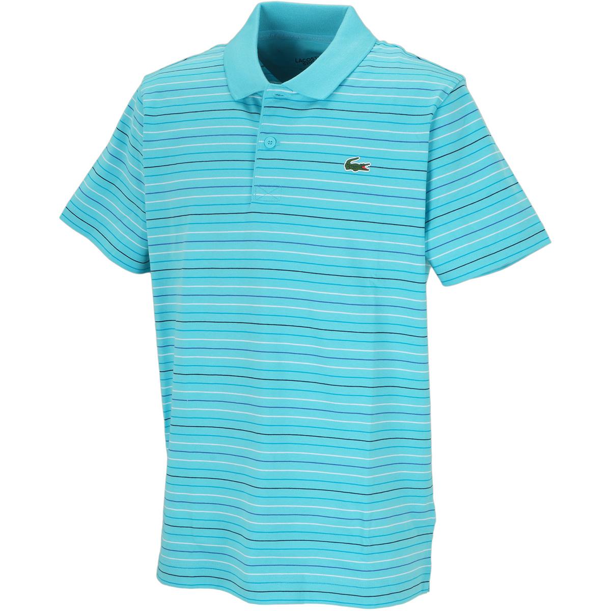 マルチカラーストライプ半袖ポロシャツ