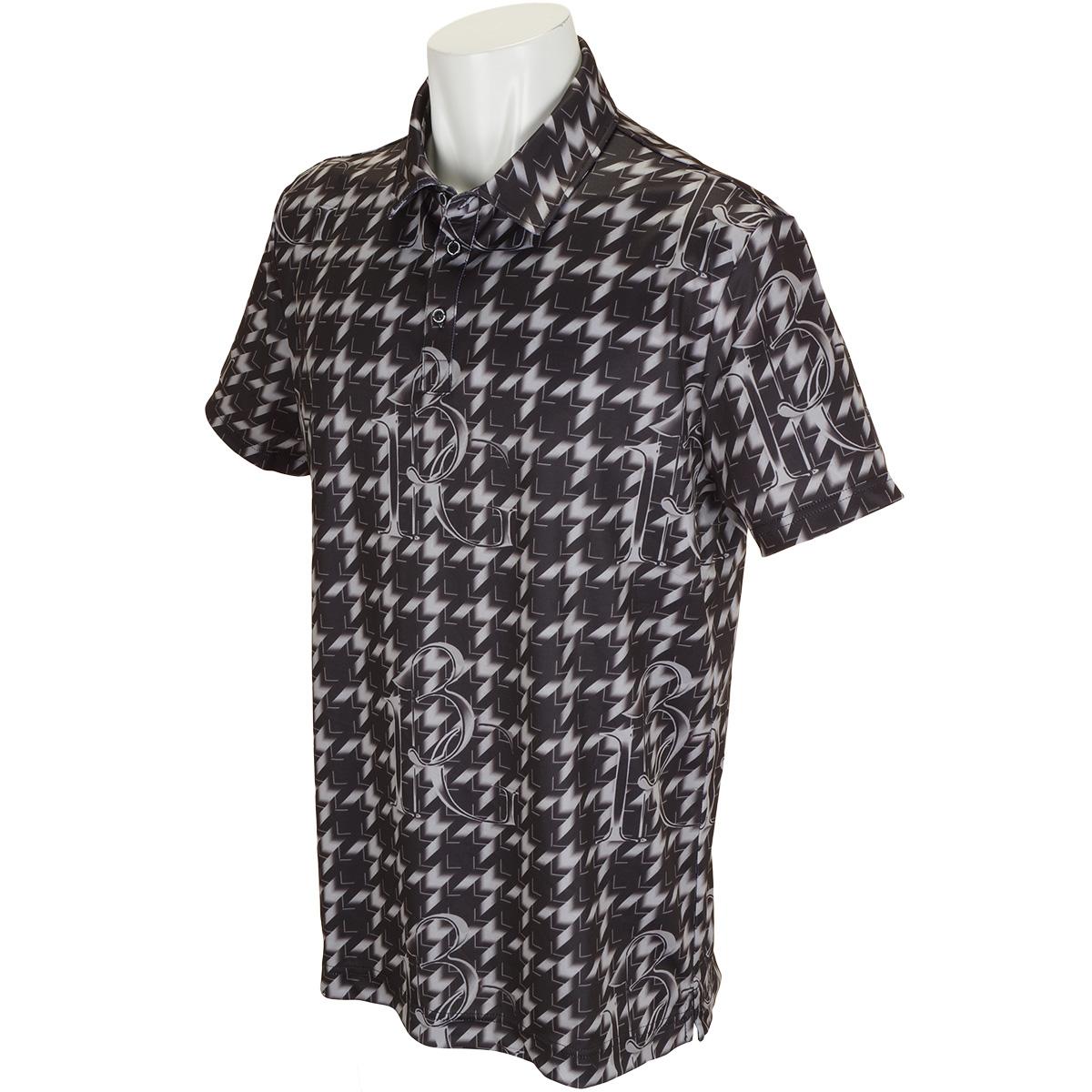 ハウンズトゥース半袖ポロシャツ