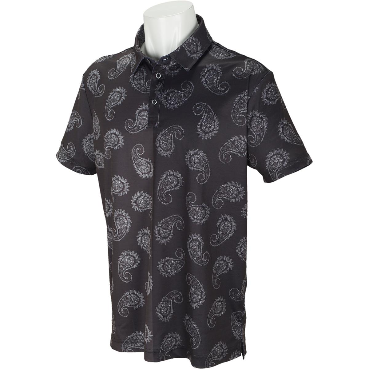 ハーフペイズリー半袖ポロシャツ