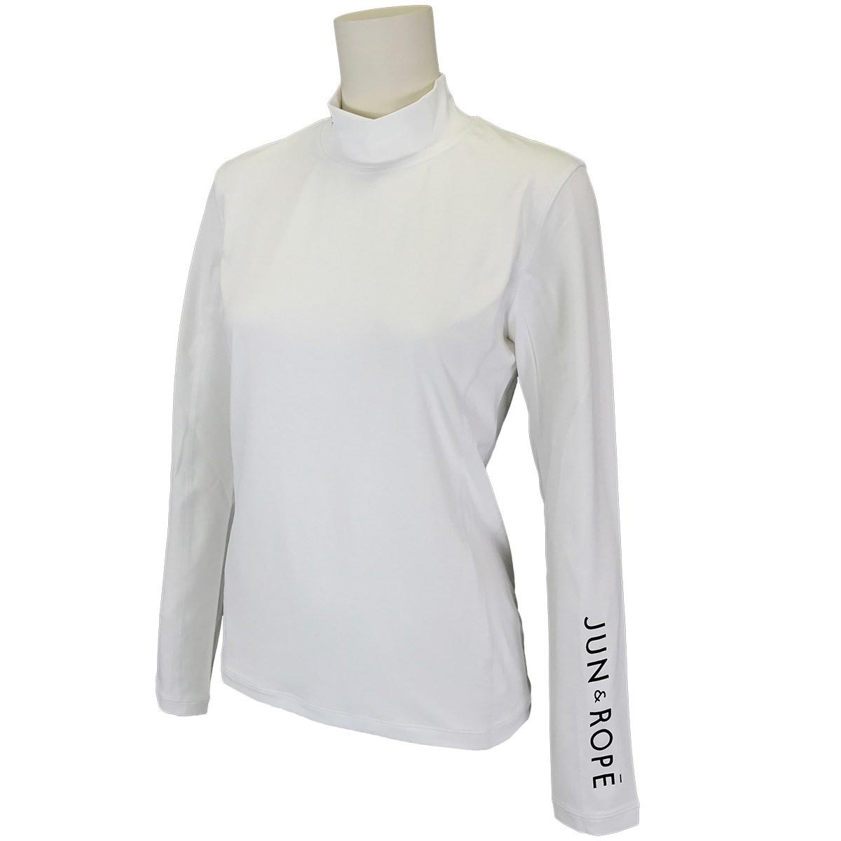 ジュン アンド ロペ JUN & ROPE モックネック長袖UVインナーシャツ M ホワイト 10 レディス