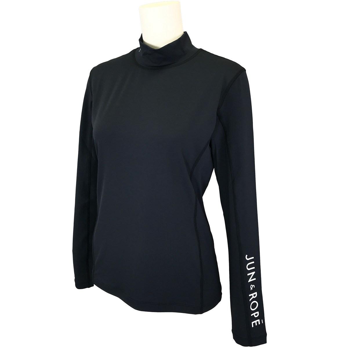 ジュン アンド ロペ JUN & ROPE モックネック長袖UVインナーシャツ M ブラック 01 レディス