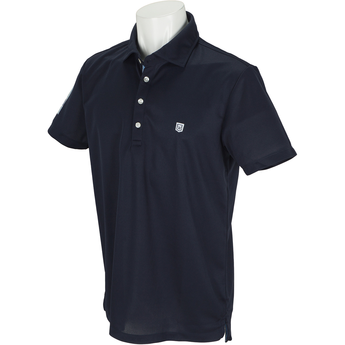 ホリゾンタルカラー 半袖ポロシャツ