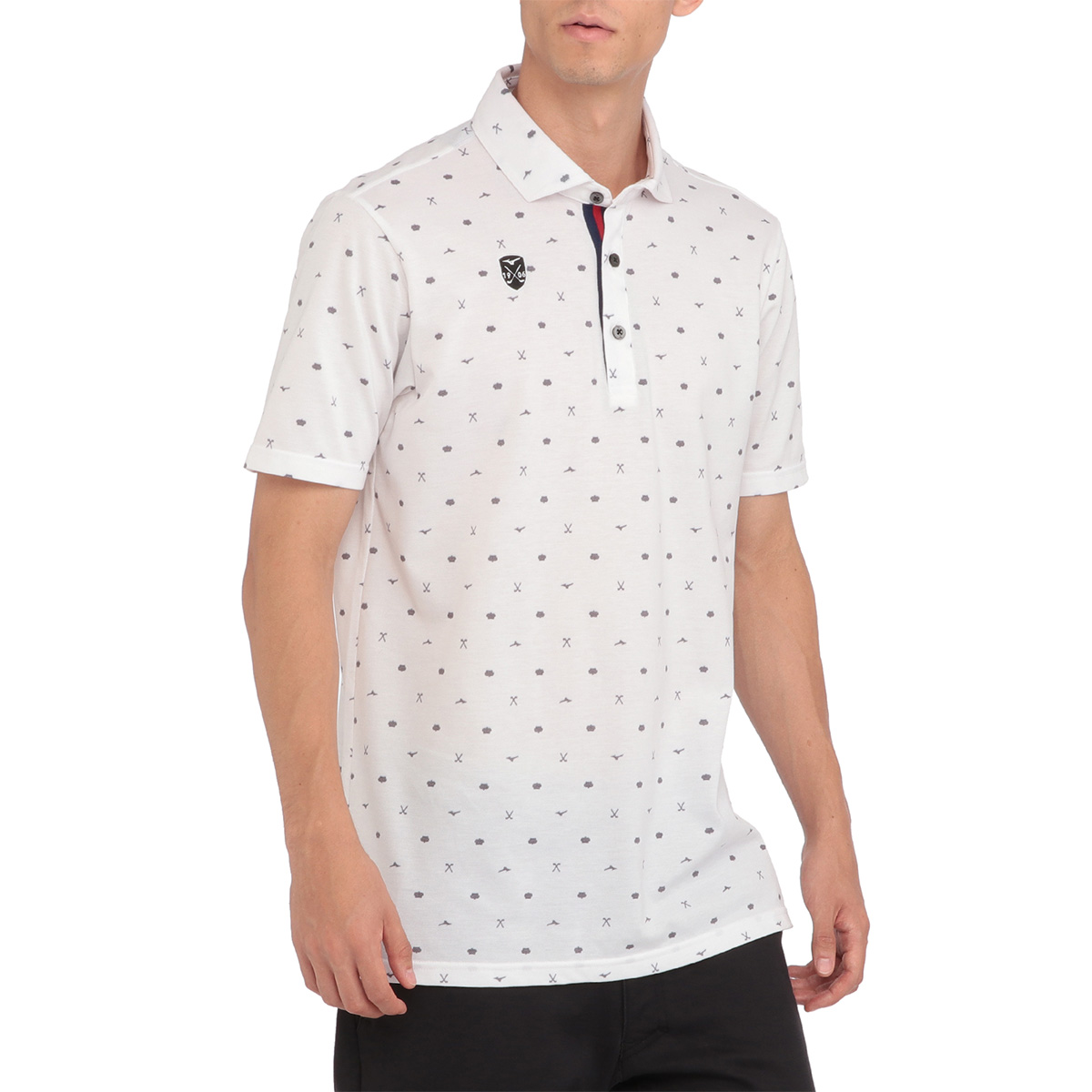 GOLF プリント半袖ポロシャツ