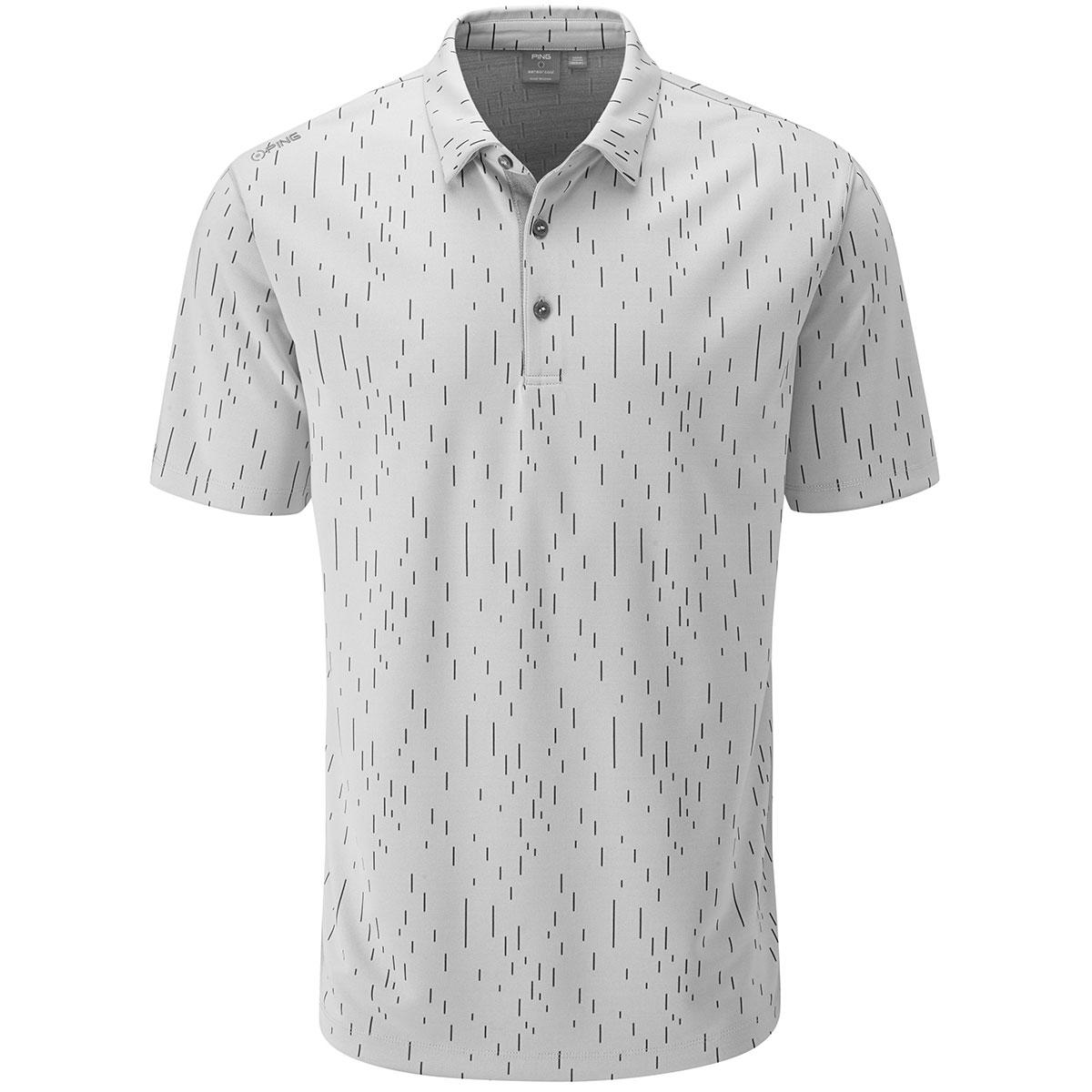 リニアジャカード 半袖ポロシャツ